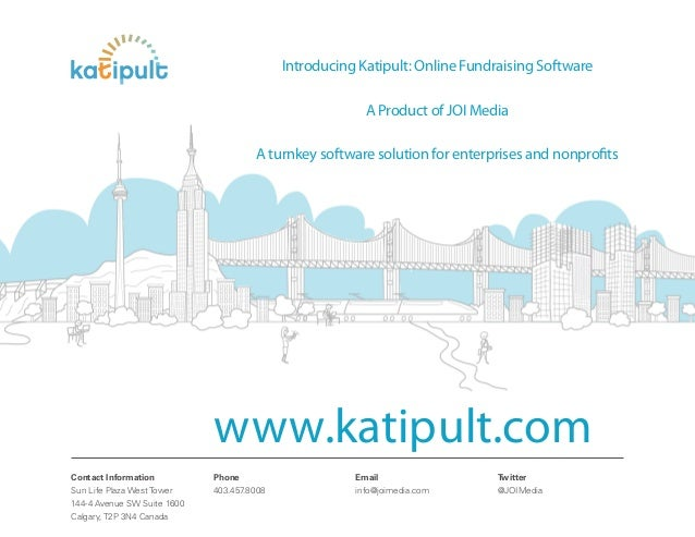 Introducing Katipult: Online Fundraising Software                                                         A Product of JOI...