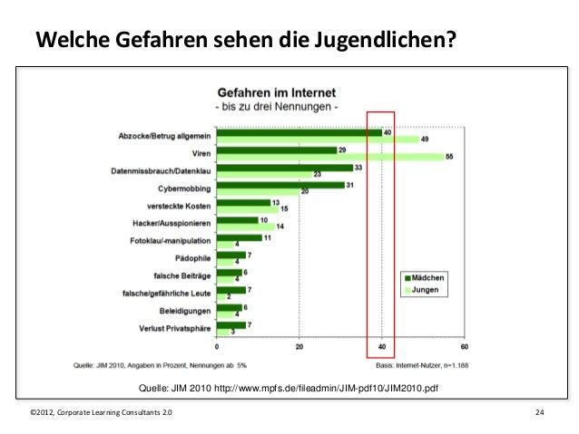 Welche Gefahren sehen die Jugendlichen?                               Quelle: JIM 2010 http://www.mpfs.de/fileadmin/JIM-pd...