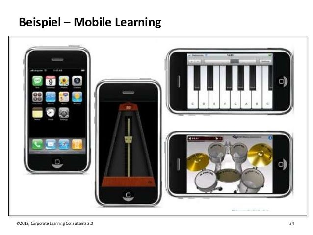 Beispiel – Mobile Learning©2012, Corporate Learning Consultants 2.0   34