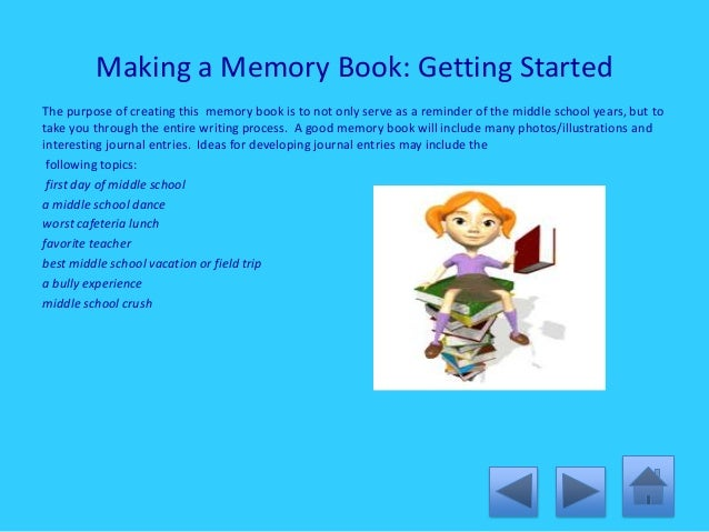 middle school memory essay Essays - largest database of quality sample essays and research papers on middle school memories.