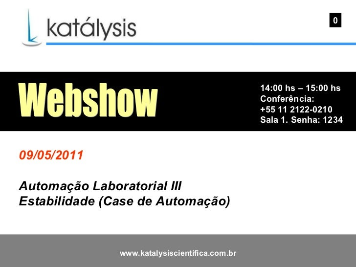 Katálysis Webshow - Automação Laboratorial III