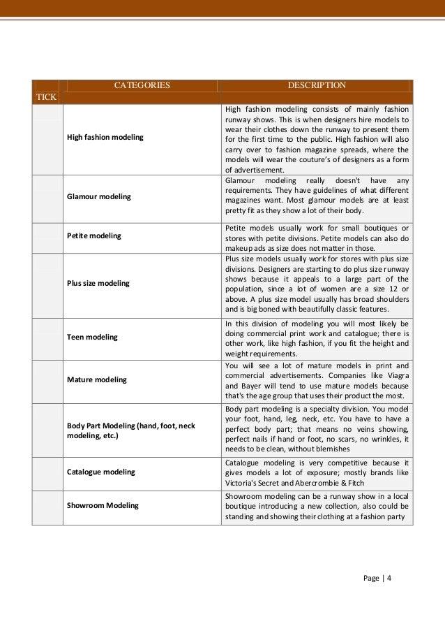 Kat Models application form