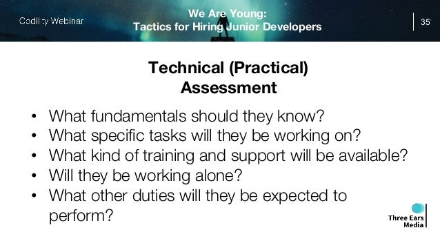 We Are Young: Tactics for Hiring Junior Developers
