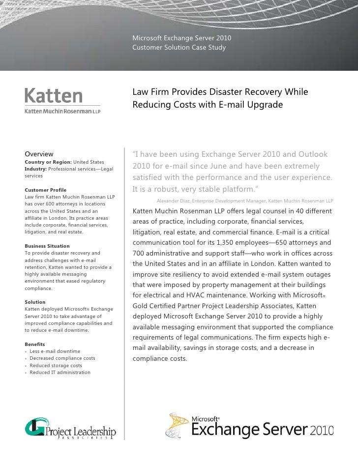 Microsoft Exchange Server 2010                                           Customer Solution Case Study                     ...
