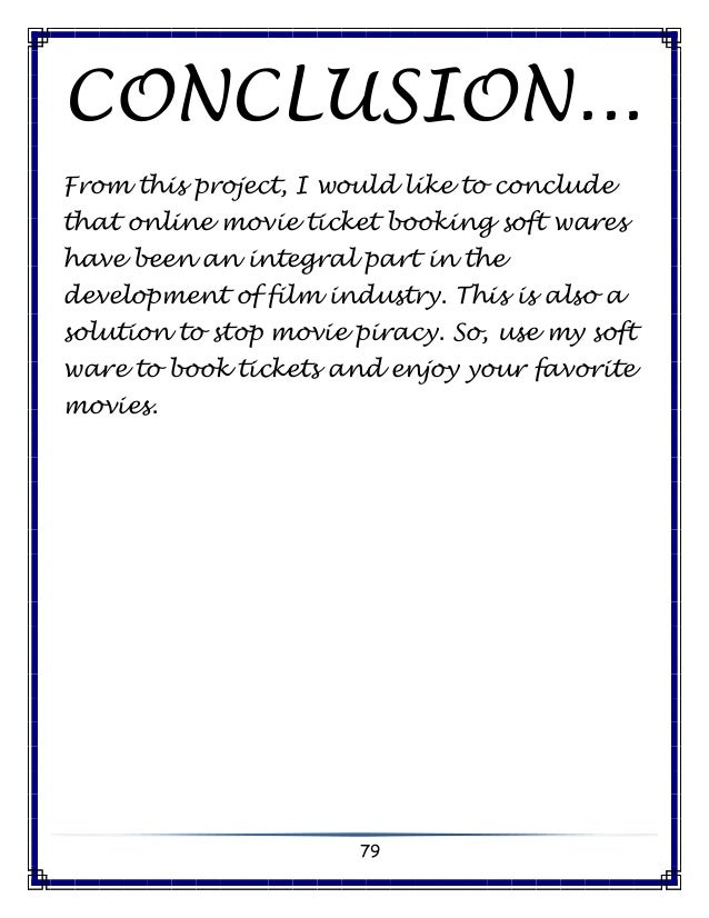 Movie Ticket Booking Computer Science C Project