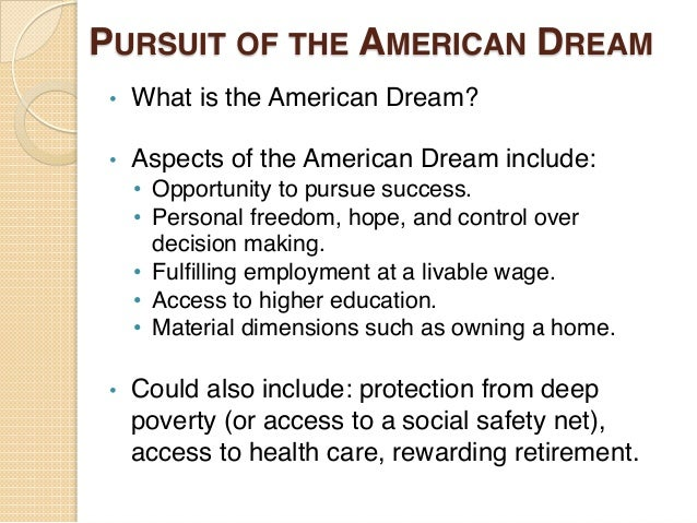 american dream opportunity essay Obama's november 7, 2007, speech on the 'american dream' next article in politics  and to protect and extend opportunity for the middle class.