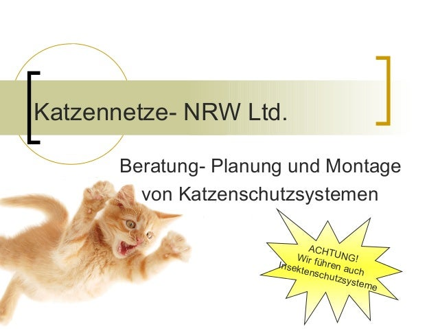 Katzennetze- NRW Ltd. Beratung- Planung und Montage von Katzenschutzsystemen ACHTUNG!Wir führen auch Insektenschutzsysteme
