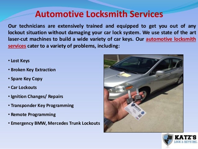 Katz's Lock and Keys – A Reliable Locksmith for all your