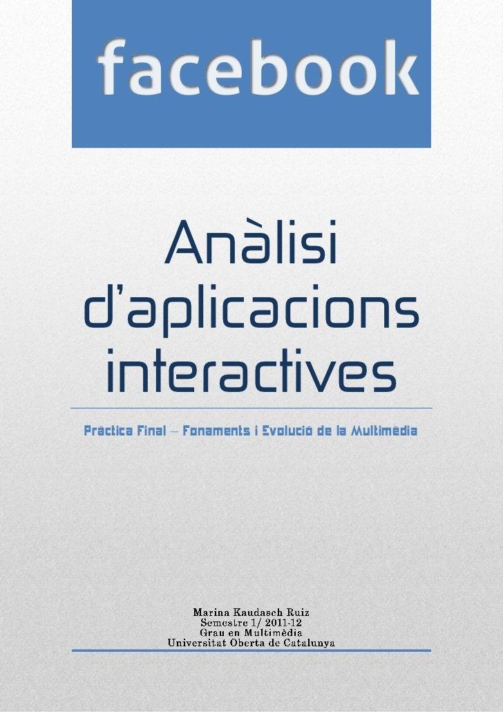 Anàlisid'aplicacions interactivesPràctica Final – Fonaments i Evolució de la Multimèdia