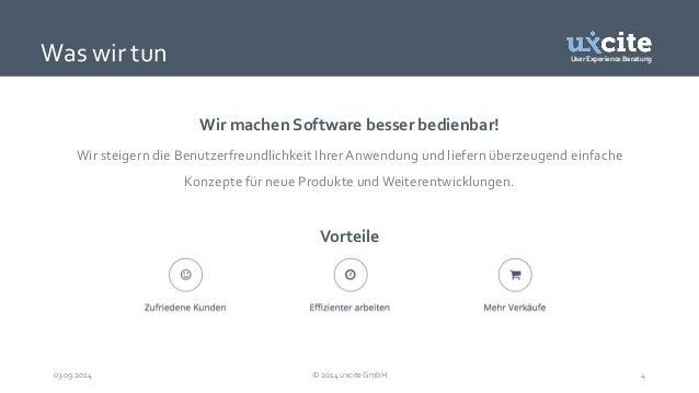 User Experience Beratung  Wir machen Software besser bedienbar!  Was wir tun  Wir steigern die Benutzerfreundlichkeit Ihre...