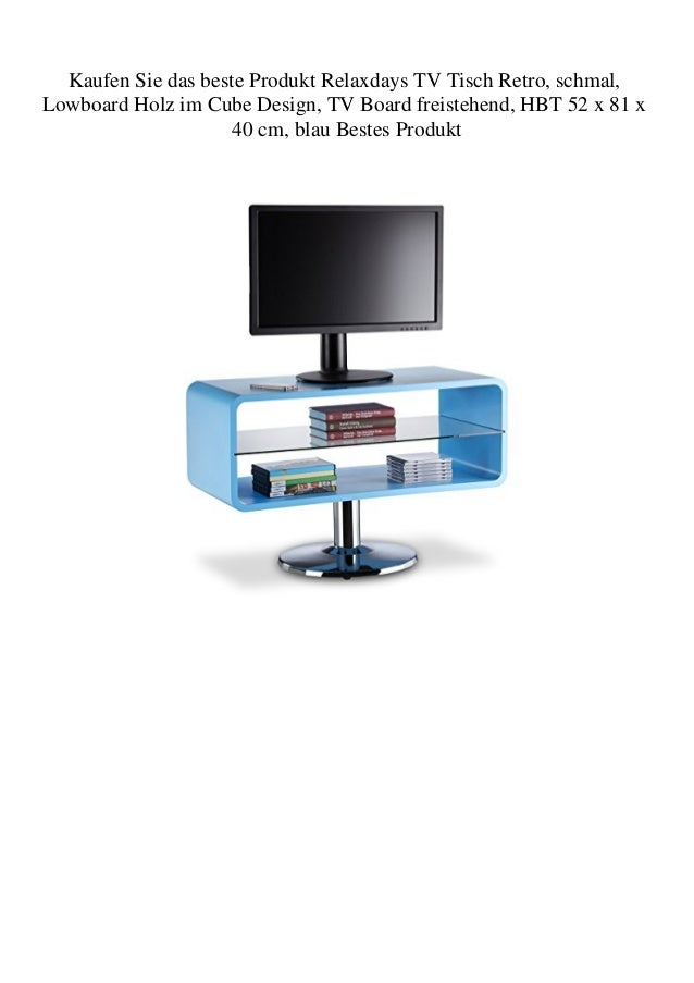 Kaufen Sie das beste Produkt Relaxdays TV Tisch Retro schmal