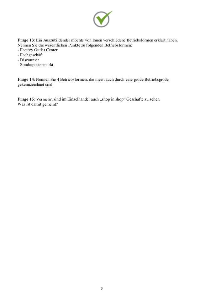 Top Prüfung Kauffrau Kaufmann Im Einzelhandel 400 Fragen Zur Absc