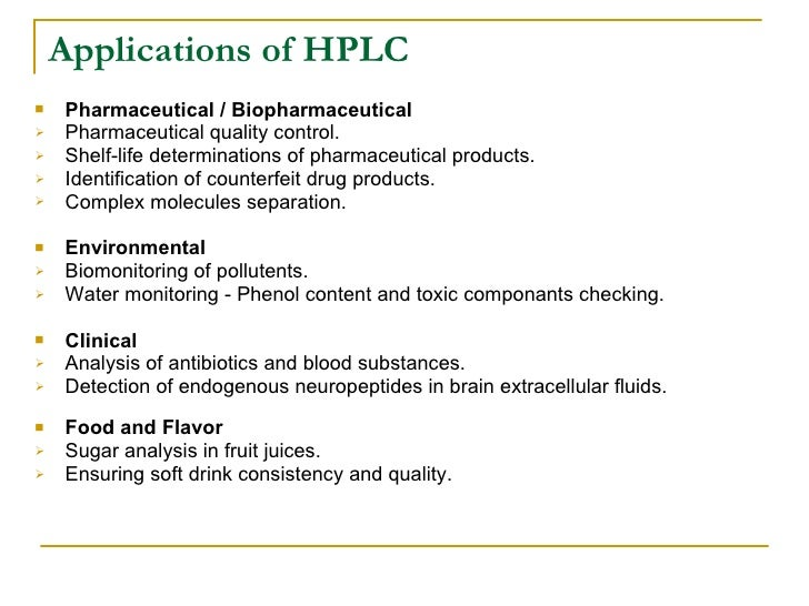 uses of hplc chromatography Kaumil Hplc
