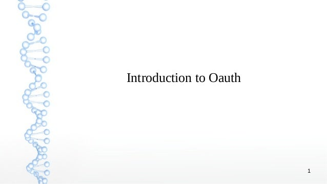 1 Introduction to Oauth