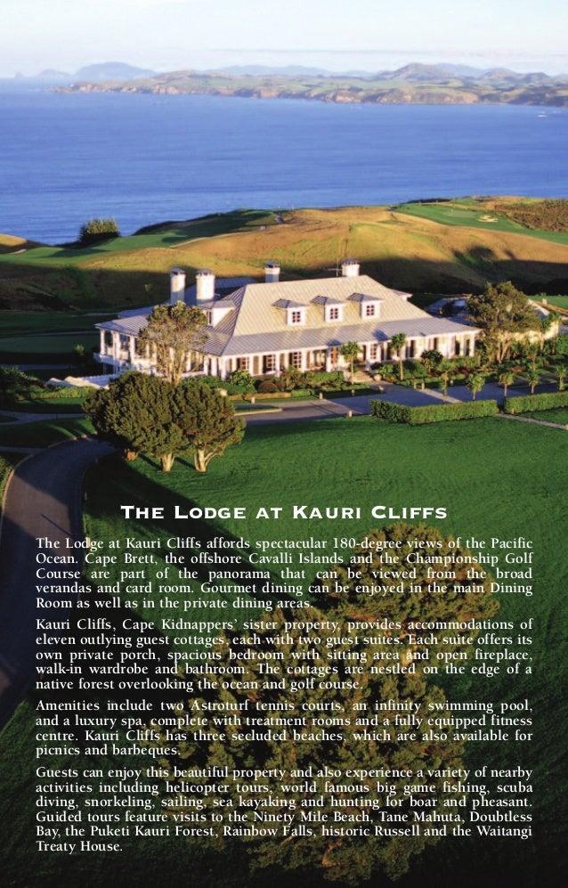 Kauri Cliffs Golf Course Yardage Chart  Slide 3