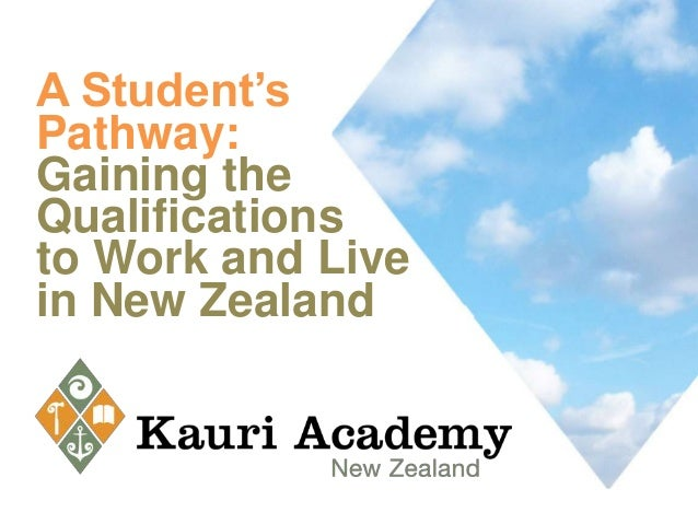 A Student'sPathway:Gaining theQualificationsto Work and Livein New Zealand