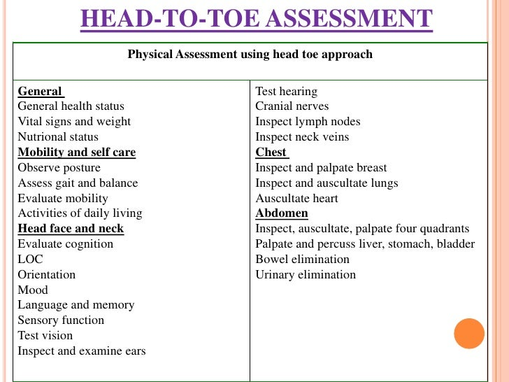 Sample Nursing Assessment Nursing Initial Health Assessment Form