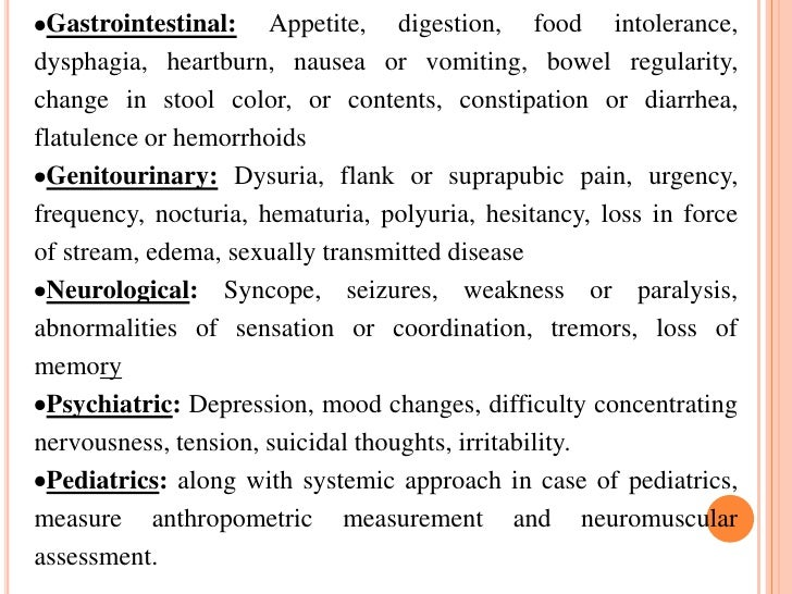gastrointestinal and nutritional assessment essay