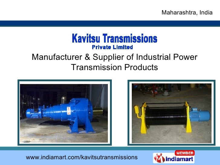 Manufacturer & Supplier of Industrial Power Transmission Products