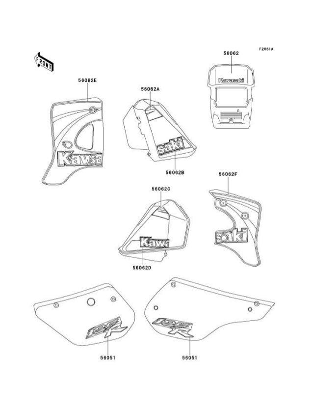 Kawasaki Kmx 125 A12 Manual De Partes