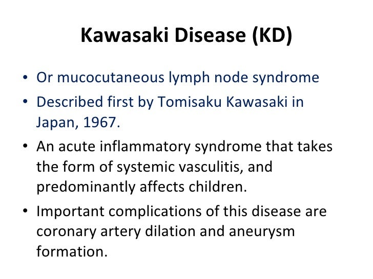 Treatment Of Atypical Kawasaki Disease