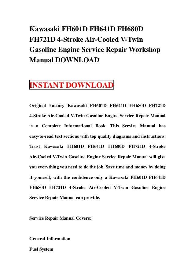 kawasaki fh601 d fh641d fh680d fh721d 4 stroke air cooled v twin gaso rh slideshare net