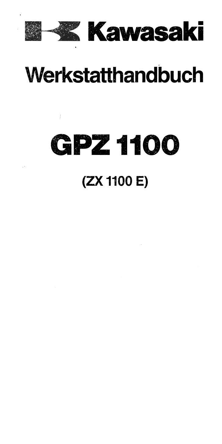 kawasaki gpz 1100 e manual de reparatie www manualedereparatie info rh slideshare net 1996 kawasaki gpz 1100 service manual 1984 kawasaki gpz 1100 service manual