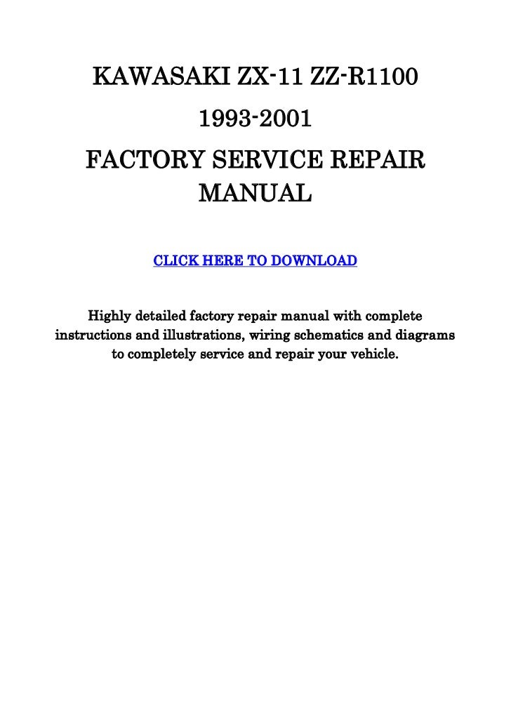 kawasaki zx11 zzr1100 service manual rh slideshare net kawasaki zzr 1100 service manual kawasaki zzr 1100 service manual pdf