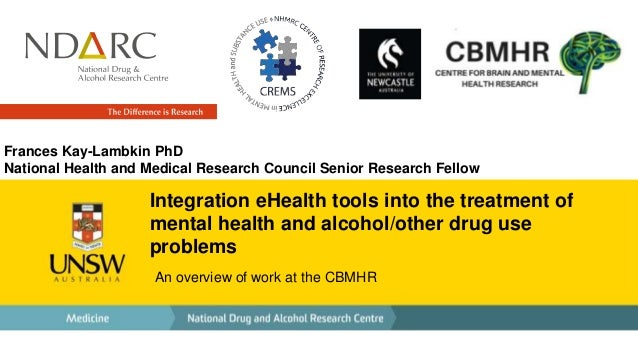 Integration eHealth tools into the treatment of mental health and alcohol/other drug use problems An overview of work at t...