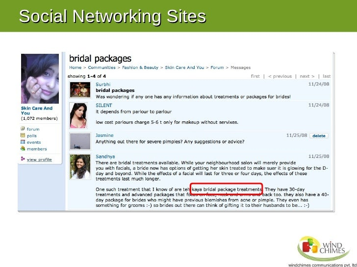 Case Study on Social Networking Sites