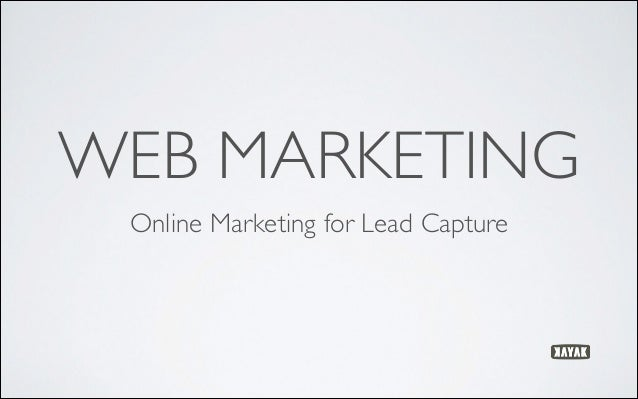 WEB MARKETING Online Marketing for Lead Capture