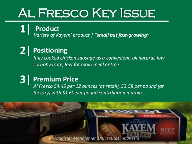 "kayem foods inc buzz marketing al fresco chicken sausage The chicken sausage items were produced on nov 4, 2015 the following product is subject to recall: [ view labels 12-oz vacuum-packed packages containing ""al fresco sweet apple chicken sausage"" bearing identification code ""308 bw12 use/frz by feb 7, 2016""."
