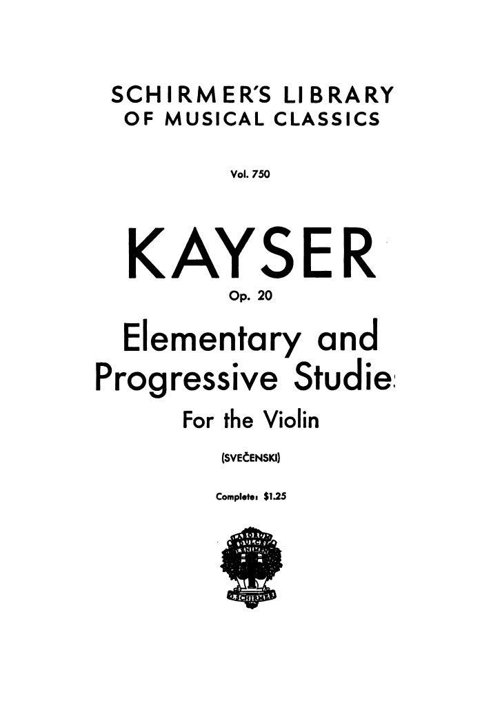 DOWNLOAD-Kayser 36 studies op.20 for violin