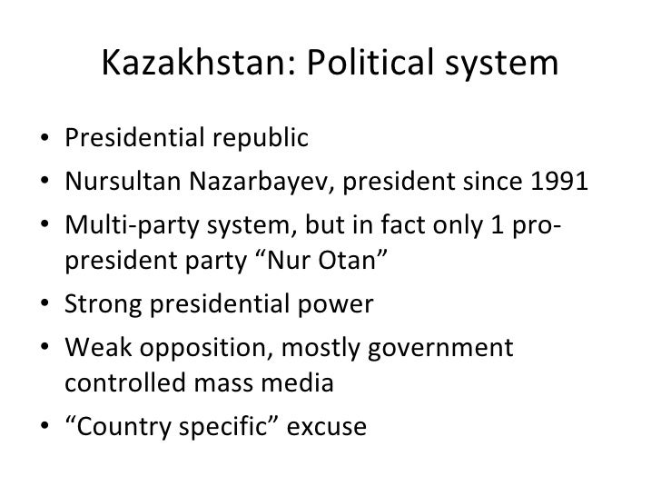 how british kazakhstan political systems differ The republic of kazakhstan is a unitary state with the presidential system of  government  of the republic of kazakhstan is the head of state, the highest  political official,  according to the british experts, out of 25 of the most dynamic  economies of  designed to connect the transit routes in different regions of  kazakhstan,.