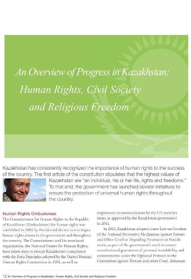 AnOverviewofProgressinKazakhstan:HumanRights,CivilSocietyandReligiousFreedom AnOverviewofProgressinKazakhstan: HumanRights...