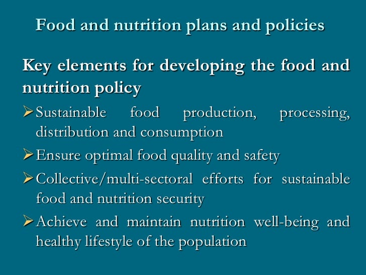 Nutrition interventions and agencies