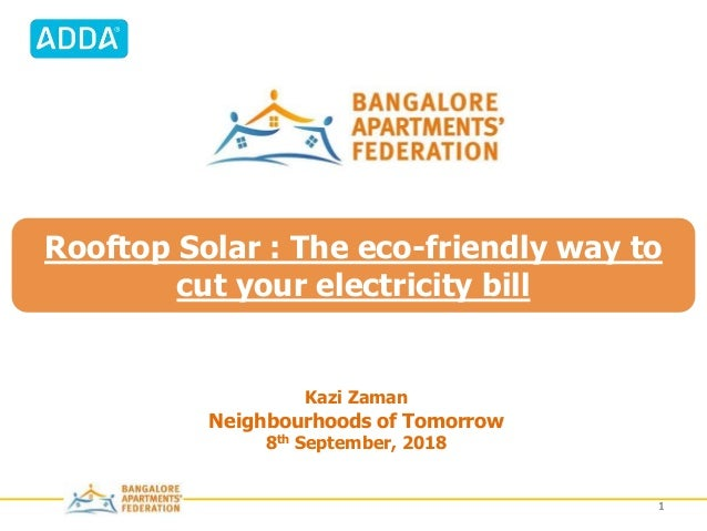 © 2012 Veda Corporate Advisors Private Limited 11 PRESENTATION TORooftop Solar : The eco-friendly way to cut your electric...