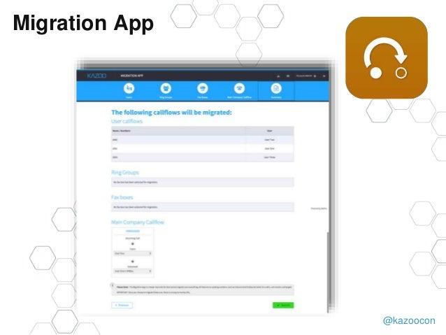 @kazoocon Migration App