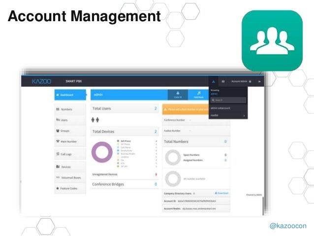 @kazoocon Account Management
