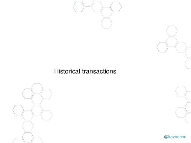 @kazoocon Historical transactions