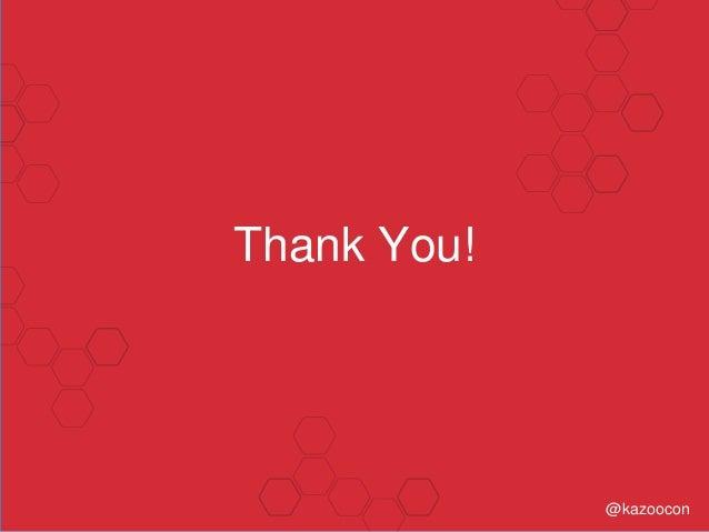 Thank You! @kazoocon