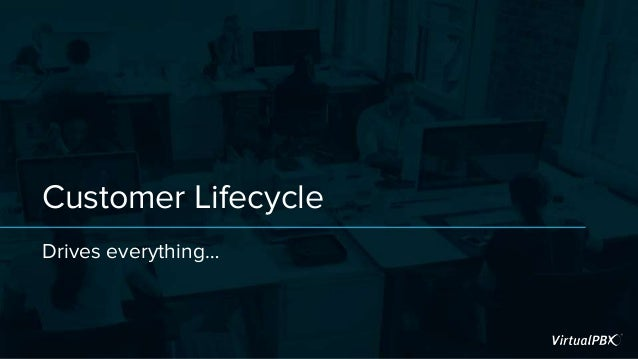 Customer Lifecycle Drives everything…