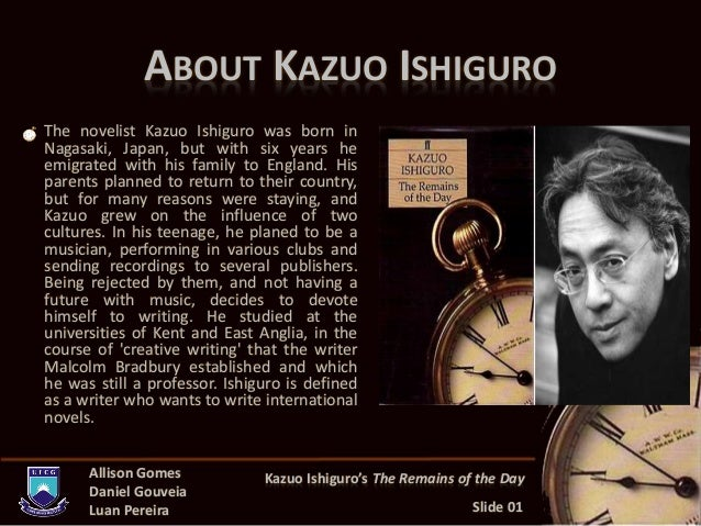 an overview of the kazuo ishiguros the remains of the day John moffatt reads the classic tale of a butler's devoted service at an english stately home.