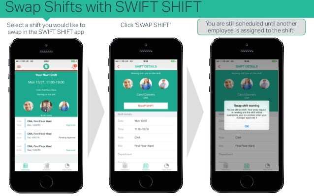 KB - SWIFT SHIFT for Employees - How do I swap a shift with