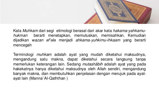KB 1 Tafsir, Takwil, Terjemah, Ayat-Ayat Muhkamat Dan ...