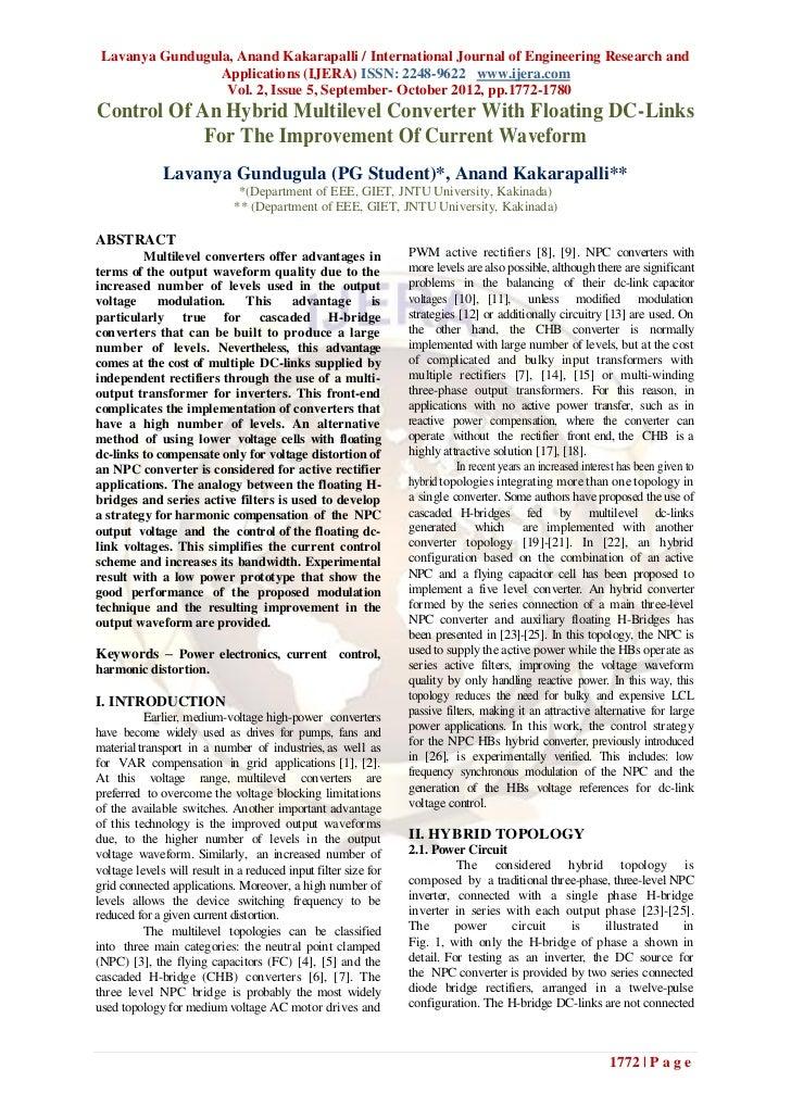 Lavanya Gundugula, Anand Kakarapalli / International Journal of Engineering Research and                 Applications (IJE...
