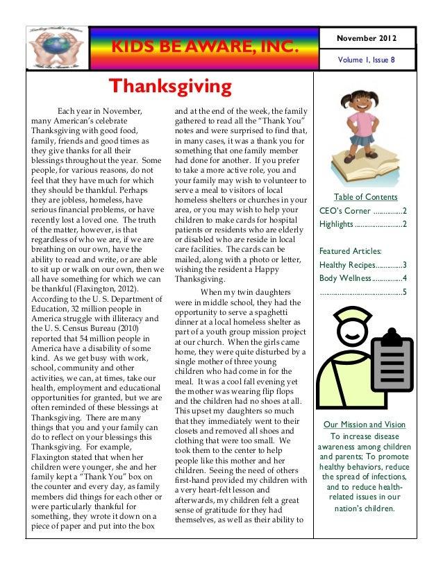 November 2012                      KIDS BE AWARE, INC.                                                                    ...