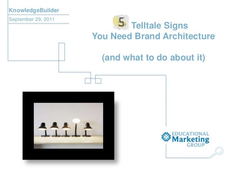 KnowledgeBuilderSeptember 29, 2011                             Telltale Signs                     You Need Brand Architect...