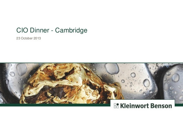 CIO Dinner - Cambridge 23 October 2013