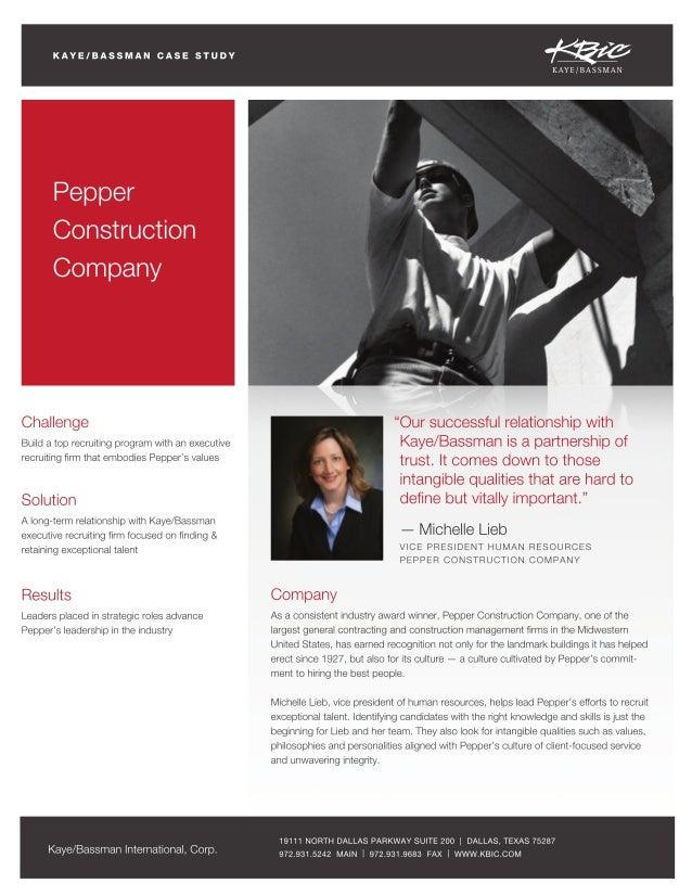 KBIC Pepper Construction Case Study